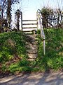 Steps to a stile - geograph.org.uk - 149768.jpg