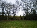 Stile and hedge in the corner of a field near Brockton - geograph.org.uk - 1722263.jpg