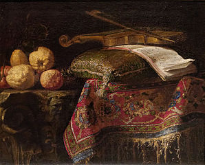 Nature morte : cédrats et violon