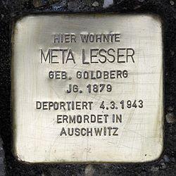 Stolperstein.mitte.poststraße 12.meta lesser.0101