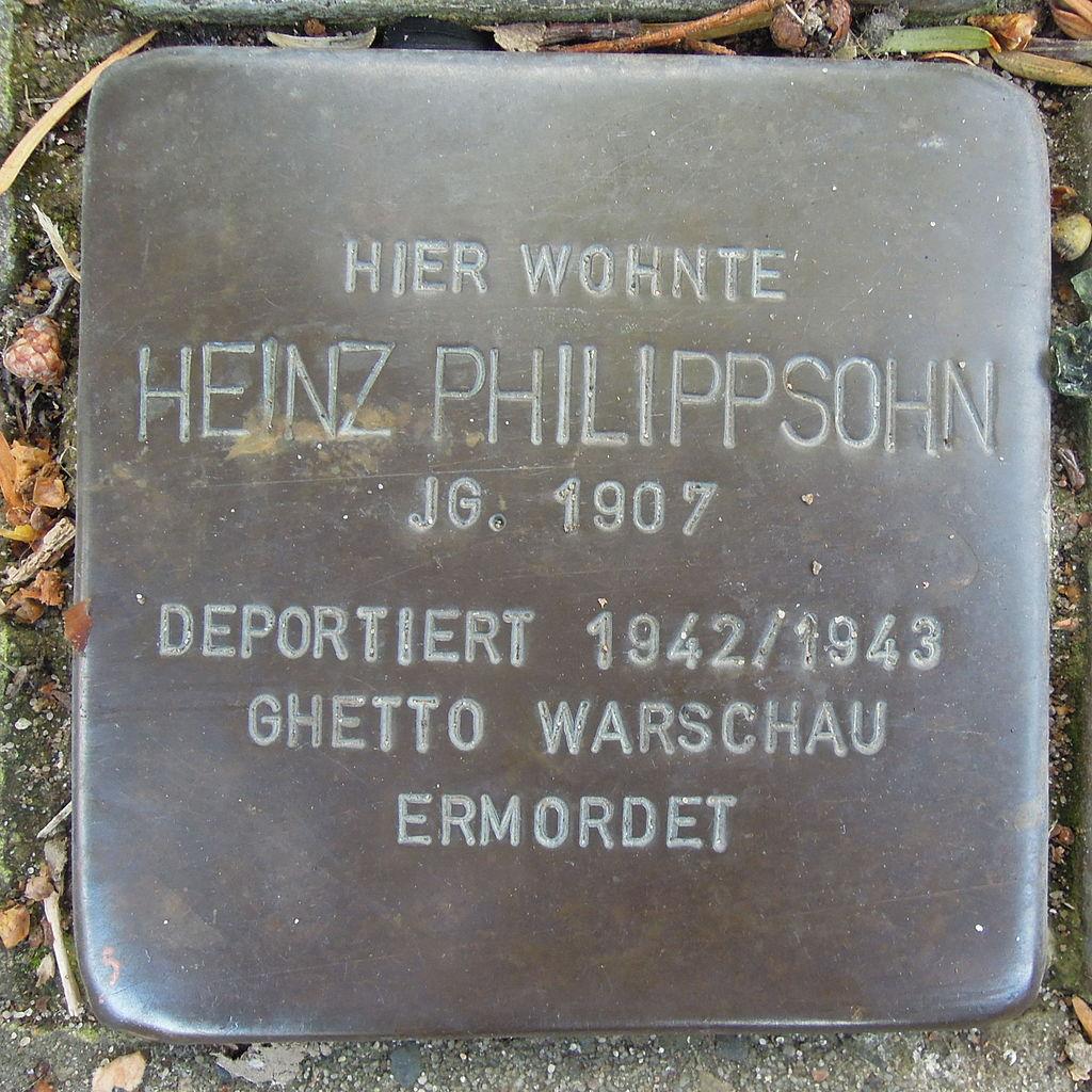 Stolperstein für Heinz Philippsohn
