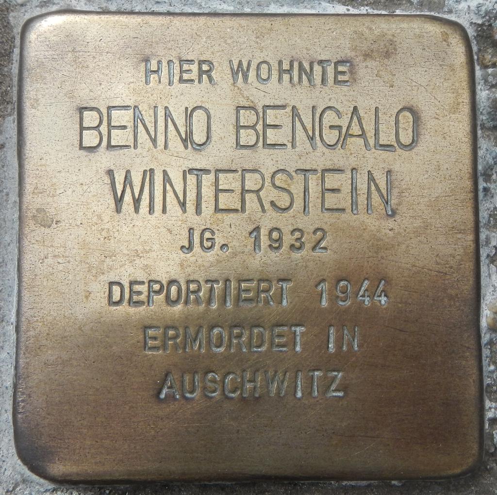 Stolperstein Benno Bengalo Winterstein