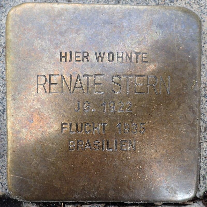 Stolperstein Einbeck Bürgermeisterwall 6 Renate Stern.jpg