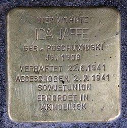 Stolperstein hauptstr 110 (schön) ida jaffe