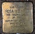 Stolperstein Hohenstaufenstr 50 (Schön) Rosa Weinreb.jpg