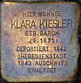 Stolperstein Salzburg, Klara Kiesler (Kaigasse 20).jpg