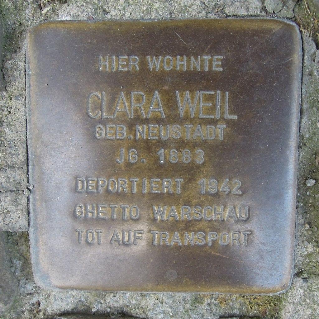 Stolperstein Salzwedel Burgstraße 59 Clara Weil