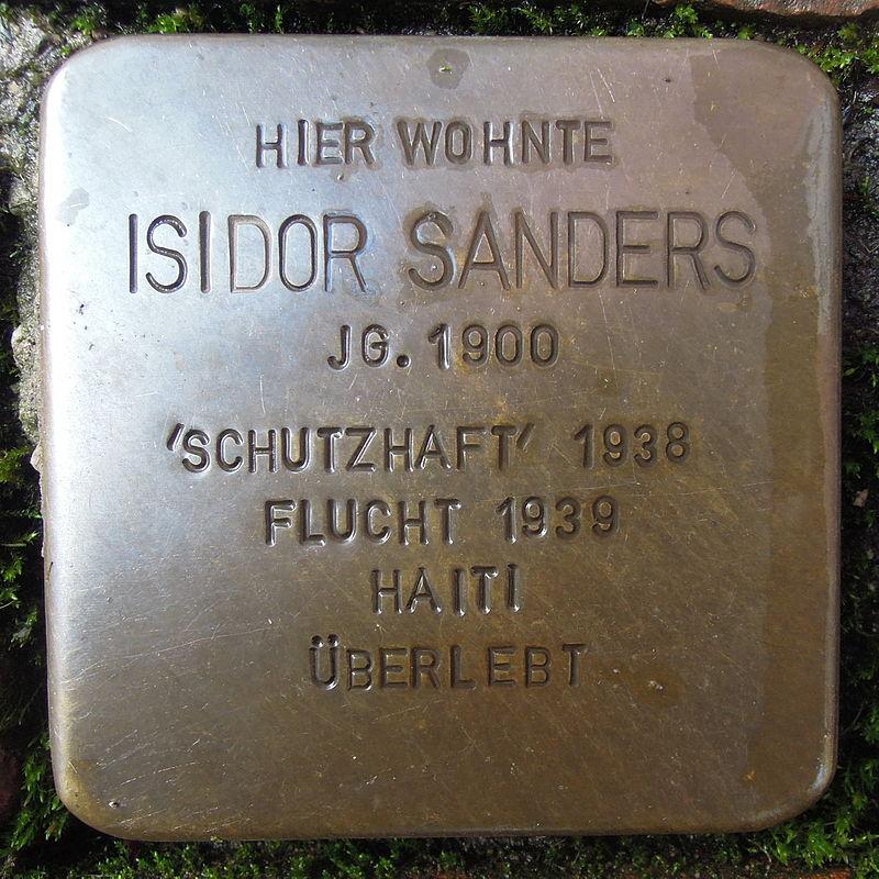 Stolperstein für Isidor Sanders