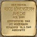 Stolperstein für Alice Löwenstern-Jarecki (Den Haag).jpg