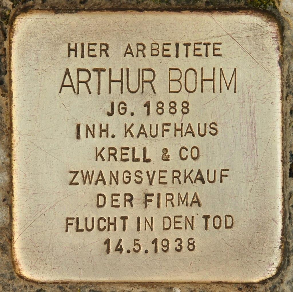 Stolperstein für Arthur Bohm (Reichenbach).jpg