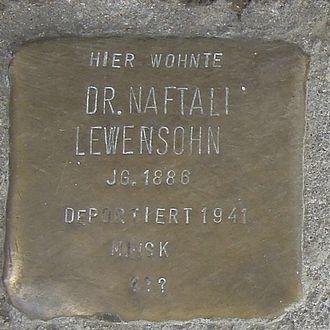 Bergedorf - Stolperstein for Dr. Naftali Lewensohn, Sachsentor 38