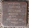 Stolperstein für Dorothea Seligmann