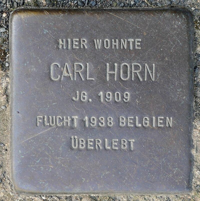 Stolpersteine Kommern, Carl Horn (Kölner Straße 11).jpg