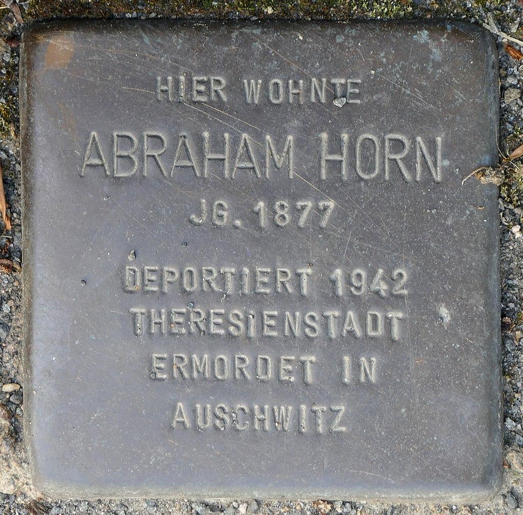 Stolpersteine Kommern, Abraham Horn (Kölner Straße 11).jpg