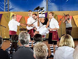 Rapper sword variation of sword dance from the pit villages of Tyneside in North East England