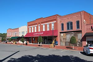 Stores in downtown LaFayette