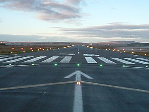 Stornoway Airport - Runway 36 at Stornoway Airport