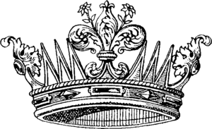 Grand Ducal Crown of Tuscany - The old grand ducal crown in an engraving.