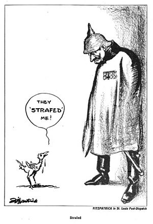 "Daniel R. Fitzpatrick - ""Strafed"" (1917)"