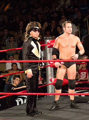 Roderick Strong - Strong with his Manager Truth Martini