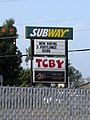 Subway TCBY sign, Cincinnati, OH.jpg