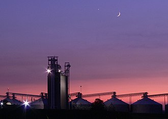 Hensley Township, Champaign County, Illinois - Image: Sunset at Grain Elevator 012 Cropped more