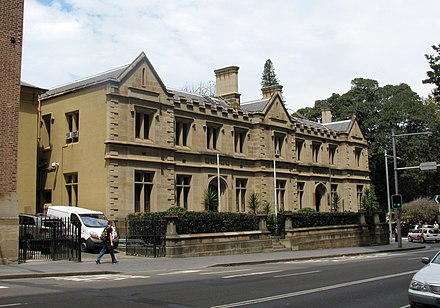 The Old Registry Office, now part of the Supreme Court of New South Wales, was one of three of the earliest established courts in Sydney. Supreme Court, Sydney.jpg