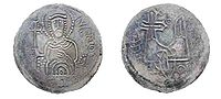 Silver coin of Sviatopolk I, Grand Prince of Kiev