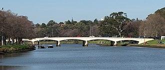 Swan Street, Melbourne - Swan Street Bridge over the Yarra River.