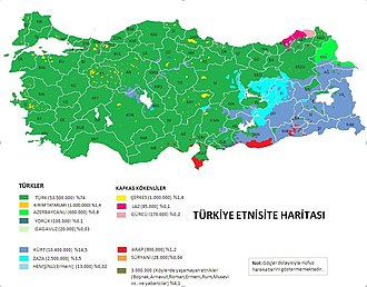 "Turkish Assyrians - Demographics of Turkey, ""Suryani"" are Assyrians"