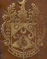 THOMAS SUTTON ARM FUNDATOR art detail, from- C Iulii Caesaris quae extant, ex emendatione Ios Scaligeri - Upper cover (c67b22) (cropped).jpg