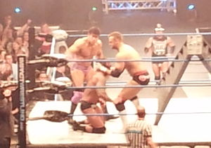 Ethan Carter III - Ethan Carter III teaming with Magnus against Gunner and James Storm in a tag team ladder match
