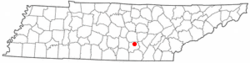 Location of Beersheba Springs, Tennessee