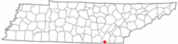 Location of East Ridge, Tennessee