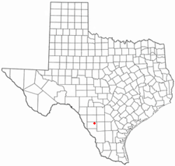 Location of Big Wells, Texas