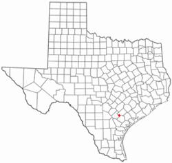 Location of Nordheim, Texas