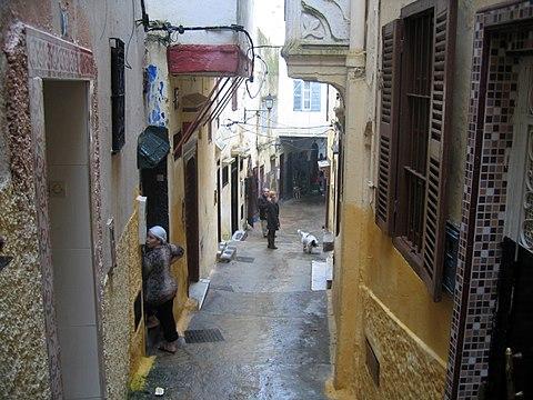 Tangier street in old Medina