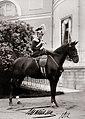 Tatiana Nikolaevna of Russia on a horse outside the Alexander Palace.jpg