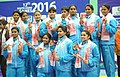 Team India won Gold Medal in the Women's Kabaddi, at the 12th South Asian Games-2016, in Guwahati on February 15, 2016.jpg