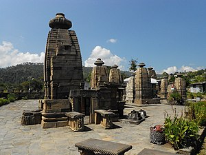 Kumaon division - Temples at Kartikeyapura (now Baijnath), the capital of Katyuri Kings