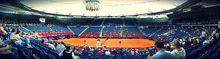Am Rothenbaum is the main tennis stadium of the International German Open. Tennis am Rothenbaum.jpg