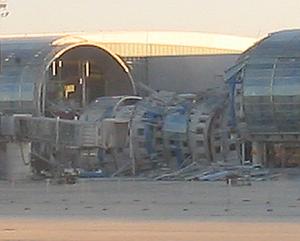 Paul Andreu - Collapsed Terminal 2E, June 2004