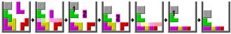 Tetris - Algorithm with chain reactions