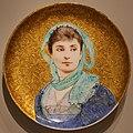 Théodore deck e paul-césar helleu, placca circolare con ritratto femminile, 1880-87.jpg