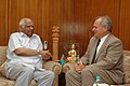 The Ambassador of Denmark to India, Mr. Ole Lonsmann Poulsen calls on the Speaker, Lok Sabha, Shri Somnath Chatterjee, in New Delhi on June 25, 2007.jpg