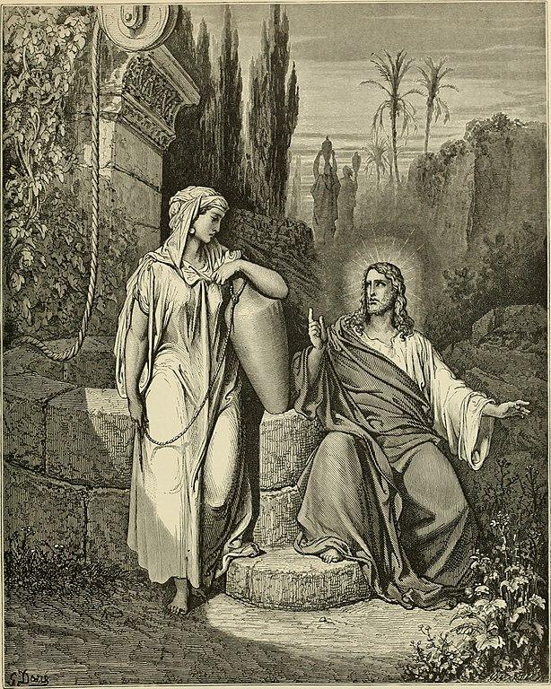예수님과 사마리아 여자 (귀스타브 도레, Gustave Dore, 1866년)