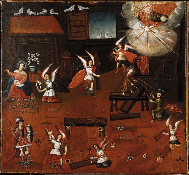 Jultomtens verkstad på 1700-talet?