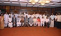 The Chairman, Rajya Sabha and Vice President, Shri Mohd. Hamid Ansari with the newly electednominated members of Rajya Sabha, at Parliament House, in New Delhi on July 31, 2010.jpg