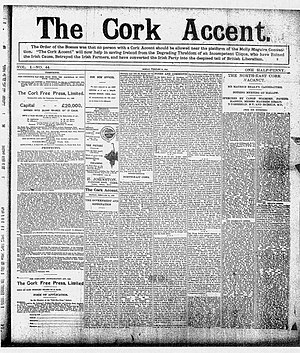Cork Free Press - The Cork Accent newspaper February 1910