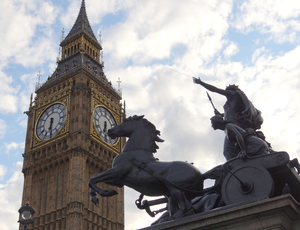 Boadicea and Her Daughters - The statue is close to the Houses of Parliament